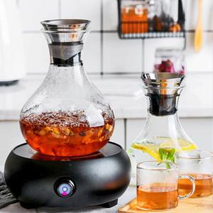 Botella de agua Botella de té Enfriadores de agua Botella refrigerada resistente al calor de alta calidad Jugo de gran capacidad Contenedor de té Vidrio de alto borosilicato