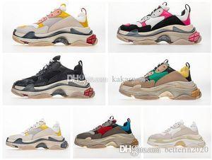 Desempenho Custo Top Original Fornecedor Designer Sneakers Paris Triple S Preto Grey calçados casuais Triple-S Dad sapatos de luxo Moda Mens Mulheres