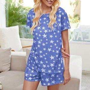 DHL Free For Pijama Tiedye Para Womens Crew Neck Tie Dye Pajama curta Define Set Tie Dye Pijama Floral Imprimir sqtrimmer TaEfQ