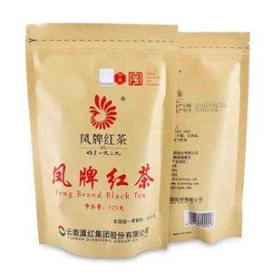 ventas calientes 125g Negro chino orgánico del té de Phoenix Marca Té Rojo Nueva cocido envasado de té verde de alimentos saludables de sellado de cinta