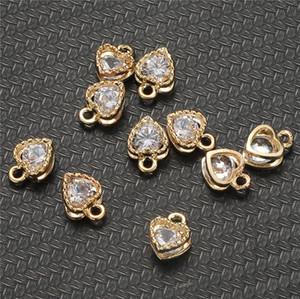 10PCS / Beaucoup de Shining Charms Petit Zircon Pendentifs Cristal Charms pour bijoux Accessoires de bricolage Making