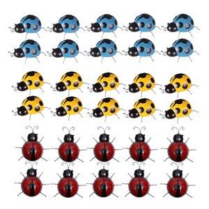 30x Güzel Demir Uğur Böceği El Duvar Sanat Ladybug Anaokulu Dekor Boyalı