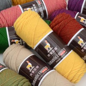 100 g di alpaca lana medio spessore filato morbido pettinato a maglia a maglia uncinetto filo nuovo