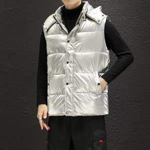mens designer Winter bright face slim and handsome waistcoat warm cotton vest sleeveless coat fashionable