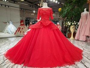 2020 em torno do pescoço das mulheres rendas muçulmanos meia luva Ruffle ponta de cristal de diamante quente vestido elegante celebridade