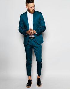 Popular One Button Groomsmen Peak Lapel Groom Tuxedos Groomsmen Best Man Suit Mens Wedding Suits Bridegroom (Jacket+Pants+Tie) B243