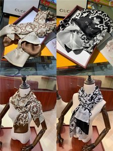Top Duplo Ice Silk Chiffon Scarf Mulheres Macio Avançada Tecidos Lenços Luxury Printing Designer seda com xale Tamanho 60 centímetros-180 centímetros Adicionar Paperbag