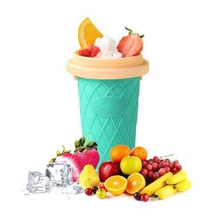 Slushy Ice Cream Maker crème DIY machine à glaçons squeeze facile Slush rapide Milkshake Bouteilles Coupe Smoothie silicone DHA117
