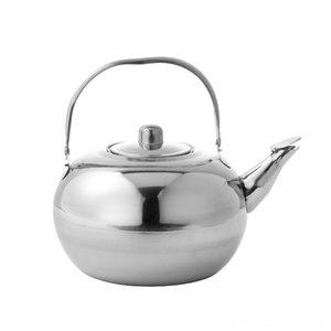 Hôtel Smallpot en acier inoxydable Teapot Restaurant Hôtel Bouilloire jaune pichet de vin Bouilloire avec filtre exquis Pot Bakeware Cuisine, salle à manger