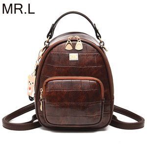 MR.L New Design Leather Backpack Leisure Women Schoolbag Backpacks For Teenage Girls  Travel Students PU Bagpack