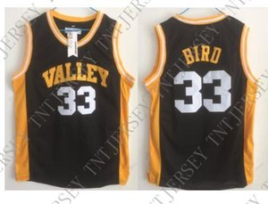 Cheap custom Larry Bird Spring Valley High School Basketball Jersey Black Retro Stitched Customize any name number MEN WOMEN YOUTH JERSEY