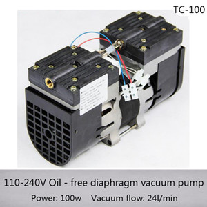 TC-100 AC110V 220V Oilless Diaphragm Vacuum Pump 100w Medical mute pump with 24L min vacuum flow