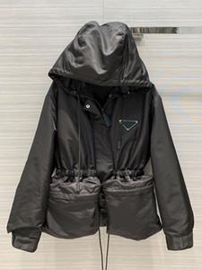 브랜드 패션 여성의 하이 엔드 고급 포켓 졸라 매는 끈 허리 재킷 코트