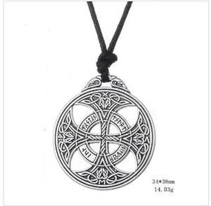 Z20 Wiccan Pagan Геометрическая подвеска Викинг Норвежский Ирландский Узел Руны Ожерелье Религиозные Амулет Ювелирные Изделия