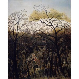 Henri Rousseau paintings Forest Rendezvous canvas artwork for office wall decor large hand painted