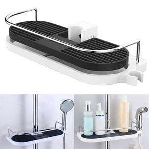 욕실 선반 다기능 스토리지 랙 샤워 헤드 샴푸 홀더 수건 트레이 조절 욕실 선반 단일 계층