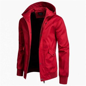 Mens Designer-Jacken-dünne Stehkragen Business Fashion Outwear Aufmaß Solid Color Hohe qulality Mantel