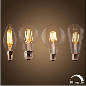 Лампа накаливания E27 Ретро Эдисон Лампа 220 В E14 Винтаж C35 Свеча Затемнения G95 Глобус Ампулы Освещения УДАРА Home Decor