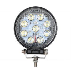 50Pcs / Lot ronde 42W / 27W LED Light Work 12V 24V Off Road Flood Lampe Spot pour camion de voiture SUV 4 roues motrices