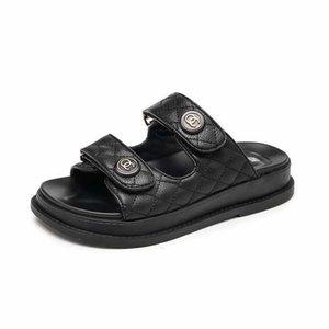 2020 Летние Пляжные Сандалии Женские Плоские Сандалии Слайды Chaussures Femme Clog Плюс Размер 43 Повседневные Шлепанцы Обувь Женщина L16#223