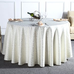 New Arrival Europe Style Beige Curl Grass Table Cloth Round For Hotel Banquet Home Dinner Table Decoration Wedding Party Favor T200707