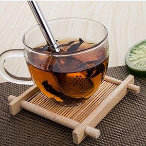 Eco-Friendly Stainless Steel Spoon Straws Tea Strainer Shaker Coffee Filter Spoons Tableware YU-Home