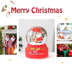 25pcs 3D Christmas Snow Globe Snow House Crystal Ball Light Voice Control Music Box День рождения Подарок для Girlfriend Forever Love