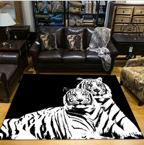 Home textiles Fashion Home Furnishings Modern Style Living Room Tiger Animal Zebra Carpet Bedroom Floor Mat Sofa Large Rugs Door Mat