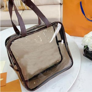 Designer Tote Bag Big Handbags Designer Luxury Handbags Purses Fashion Clear Old Flower Transparent Printing Lady Shopping Handbags
