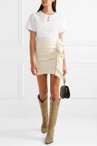 Nueva versión Rare Paris Fashion Isabel Boots Denzy Botas de ante bordadas hasta la rodilla Marant Zapatos de cuero genuino Tamaño europeo 35-40