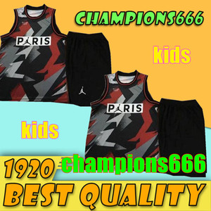 KIDS 2019 PSG Paris Jersey Fashion مايكل JD باريس كرة السلة الفانيلة PSG X AJ سروال قصير Jordam MBAPPE Football Shirt Kit مايوه سترة
