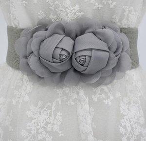 Women's runway fashion elastic flower Cummerbunds female Dress Corsets Waistband Belts decoration wide belt R1176