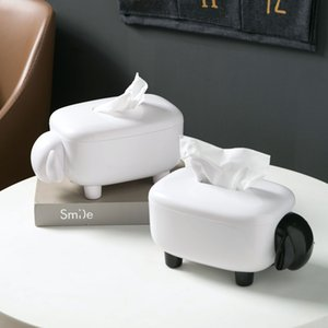 Sheep Shape Tissue Box Living Room Paper Container Household Napkin Cute Roll Paper Storage Box Home Decorations