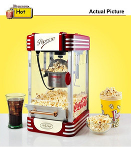 11.220V Popcorn Maker machine électrique Vintage Retro Popcorn Popper machine Accueil Party Hot Air outil Diy Popcorn Maker maïs
