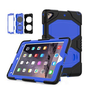 For new iPad 10.2 air2 pro 9.7 10.5 11 mini Armor Shockproof Heavy Duty Stand Tablet Case For Galaxy T860 T290 P200 T510 T720 T590 T560