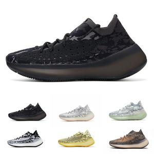 Neue 380 V3 Nebel Sneakers Alien Black White 380s Antleine Blaue Hafer Runing Schuhe Kanye West 3S 3M Reflektierende Sportschuh Größe 36-46