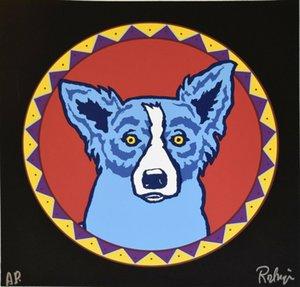 Джордж Rodrigue голубой собаки Big Chief Home Decor ремесла / HD печати Картина маслом на холсте Wall Art Canvas картинки 200113