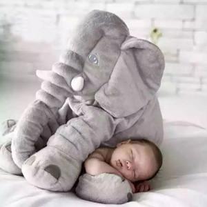 40cm / 60 centimetri grande peluche elefante giocattolo bambola bambini Dormire Indietro Cuscino farcito sveglio Baby Elephant Accompagnare Doll regalo di natale Y200623