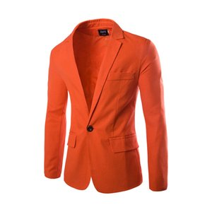 Mens Notched Lapel Slim Fit Single Breasted One Button Dress Blazer Jacket 2018 Fashion Men Party Casual Blazers Suit Jackets