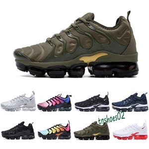HOT SALE 2018 New 2018 TN Plus VM In Metallic Olive Men Mens Running Shoes Sneakers Trainers 40-46 free shipping n46