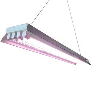 T8HO 형광성 LED 는 전등 설비 4ft 를 성장합니다 4 램프는 가벼운 장비 형광성 Ho 전구를 성장합니다 실내 뜰을 만드는 T8 는 전등 설비를 성장합니다