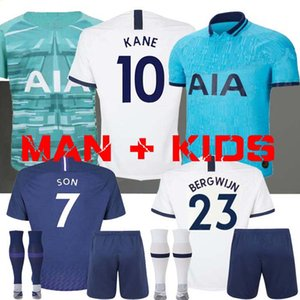 Hommes + ENFANTS 19 20 KANE Ndombele Soccer Jersey 2019 2020 LUCAS Bergwijn kit maillot DELE SON Maillot de football Tottenham Gedson LLORIS gardien de but