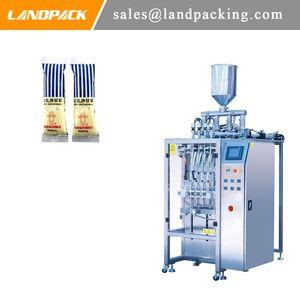 Máquina automática de envasado de líquidos Pequeña máquina de envasado en barra vertical Aderezo para ensaladas Embalaje de bolsita de múltiples carriles
