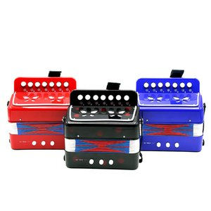 Kinder Kinder 7-Key 2 Bass Mini Klein Akkordeon Educational Musikinstrument Rhythm Band Toy