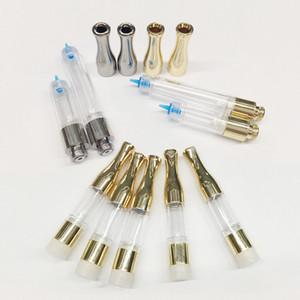 G2 Vape Oil cartuchos de metal Drip Tip 0,5 ml 1 ml PC Atomizador vaporizador Wick Bobinas 510 Disposable Vape Canetas Carros Ecigarette Vape Pen