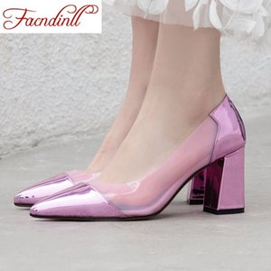 FACNDINLL Big Size 34-43 2020 New Spring Summer Women High Heels Shoes Pumps Girls Fashion Heels Woman Dress Work Pumps