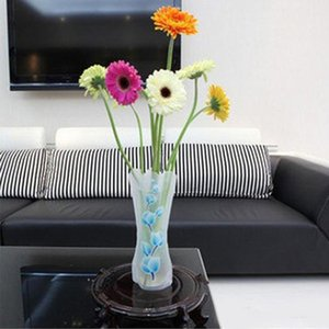 Pvc Foldable Vases Collapsible Water Bag Plastic Wedding Party Vases Home Ornaments Decoration Tablletop Vase 27*12cm