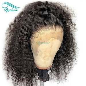 Bythair Human Hair Full Lace Wig Short Curly Lace Front Wig Pre Plucked Hairline Deep Curl Malaysian Virgin Hair 150% Density Bleached Knots