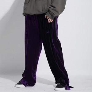 Hip Hop Vintage Pantalons simple Mode Streetwear Patchwork Color Block Pantalon Joggers hommes pantalons