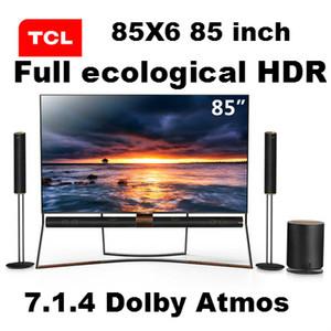 Originale TCL 85X6 di alta qualità 85 pollici 4K primaria quantum dot colore pieno HDR ecologica TV intelligente suono a 360 ° panoramica, scioccante e l'udito